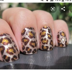 New sally hansen nail polish strips. Leopard print